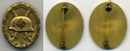 Verwundetenabzeichen 1939 in Gold