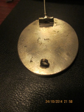 Silver wound badge - unmarked with finish - ORIGINAL/FAKE