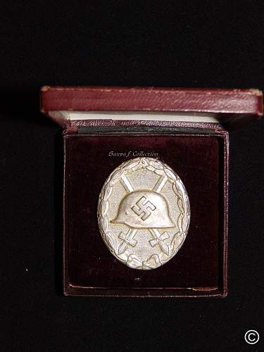 Verwundetenabzeichen 1939 in Silber with etui for review