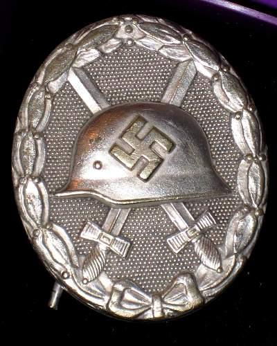 Silber Verwundabzeichen Unmarked Hauptmunzamt?