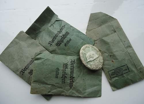 My Little Bundle of Silver Wachtler and Lange VerwundenAbzeichen