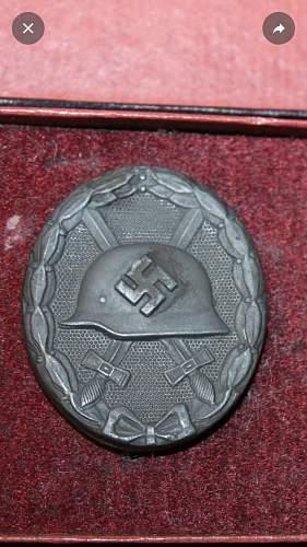 Verwundetenabzeichen in Silber Maker Marked - 107