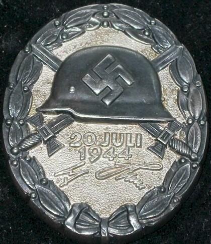 Verwundetenabzeichen 20 Juli 1944 in Schwarz
