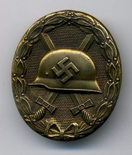 Verwundetenabzeichen 1939 in Gold, Deschler