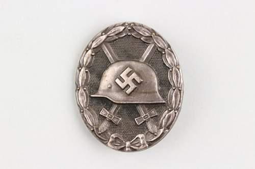 Verwundetenabzeichen 1939 in Silber Tombak