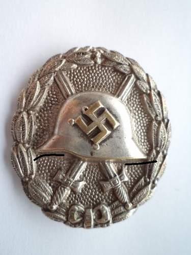 Verwundetenabzeichen  in  silver