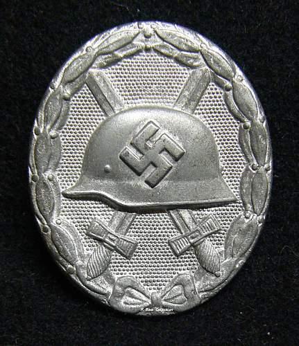 Verwundetenabzeichen 1939 in Silber, L/11, Wilhelm Deumer