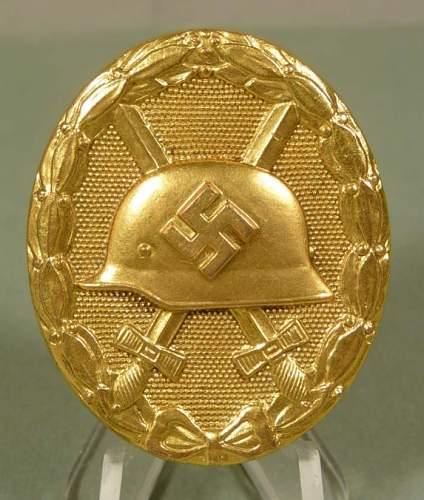 Verwundetenabzeichen in gold mm 30