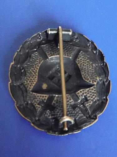 1st pattern Verwundetenabzeichen in schwarz