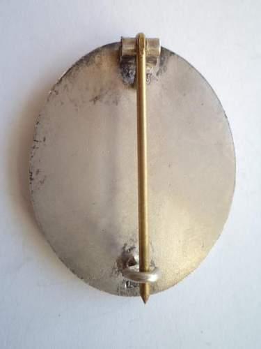 Verwundetenabzeichen  in Silber  L54