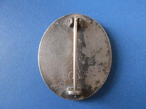 Verwundetenabzeichen in Silber 65