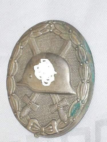 Verwundetenabzeichen silber unusual pin