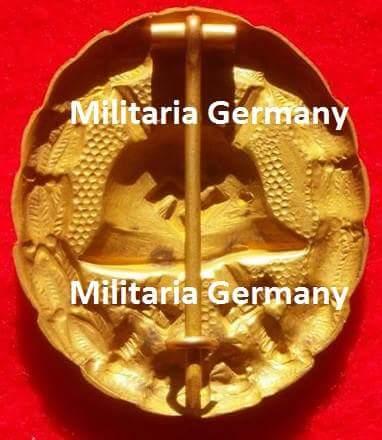 Verwundetenabzeichen in Gold, 1. Form