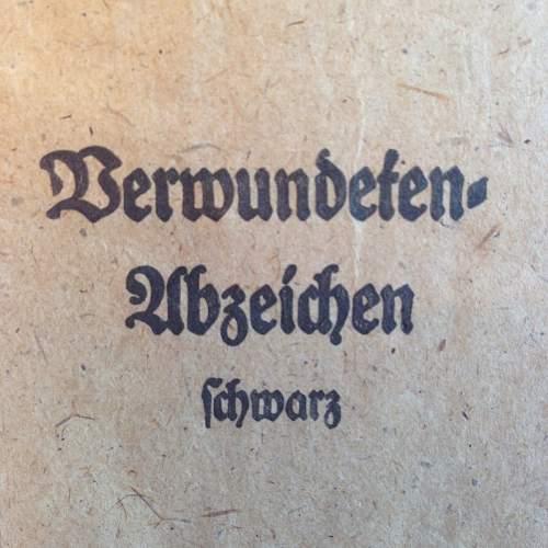 Verwundetenabzeichen 1939 in Schwarz - Moritz Hausch
