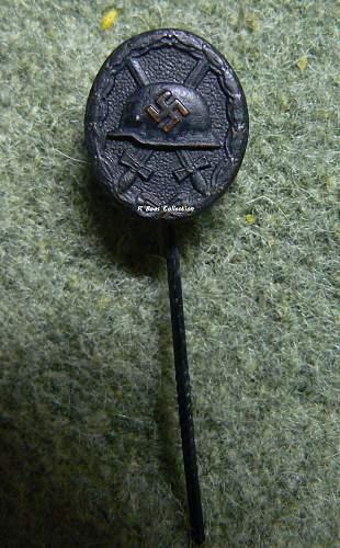 black and silver verwundetenabzeichen 16mm L/11