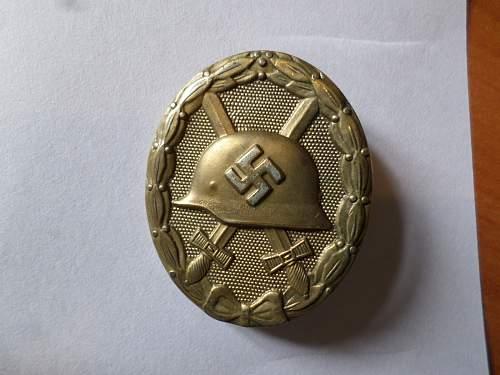 Verwundetenabzeichen gold mm 28