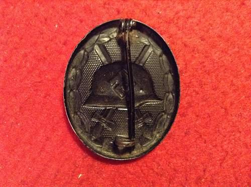 Verwundetenabzeichen schwarz 1939 maker marked 4
