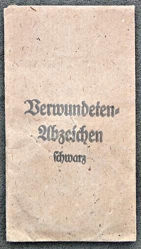 Verwundetenabzeichen Black with Envelope - real of fake?