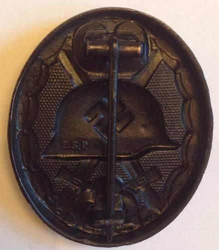 Verwundetenabzeichen in Schwarz - E.S.P