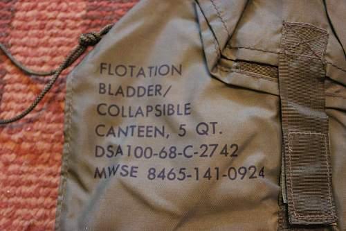 5 Quart Collapsible canteen/flotation bladder