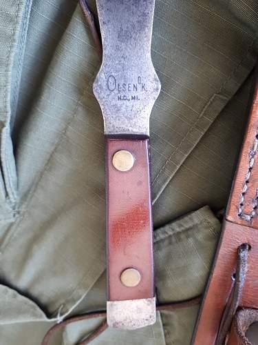 Vietnam era OLSEN Trowing Knife