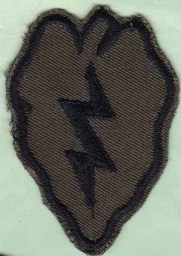 """Tropic Lightning"" OG-107 Cotton combat tunic 1969"