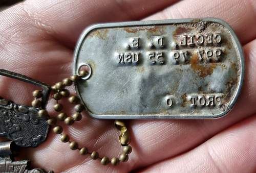 USN Dog Tag and Vietnam Gallantry Cross