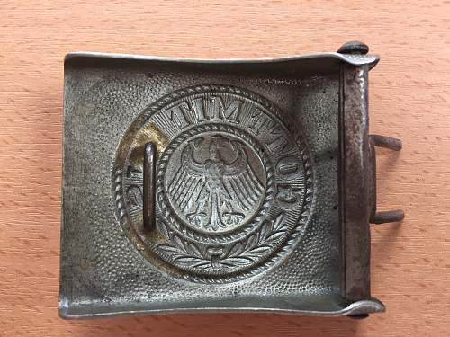 Reichswehr belt buckle? Is it real?
