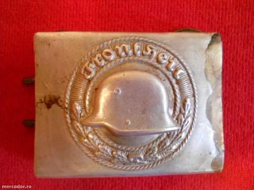 WW2 FrontHeil Buckle Freikorps
