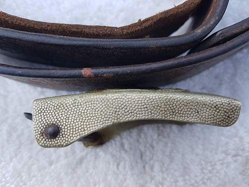 Reichswehr buckle and repaired belt