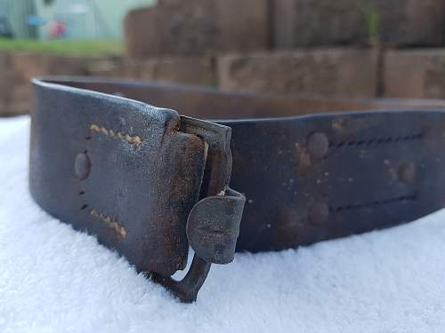 Reichswehr buckle and repaired belt