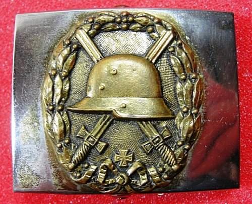 Unidentified Stahlhelm Buckle