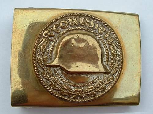 Click image for larger version.  Name:Brass Front Heil Stahlhelmbund Front.jpg Views:148 Size:141.5 KB ID:439390