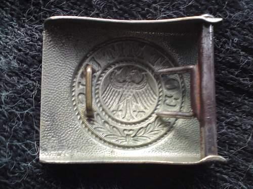 Reichswehr buckle.