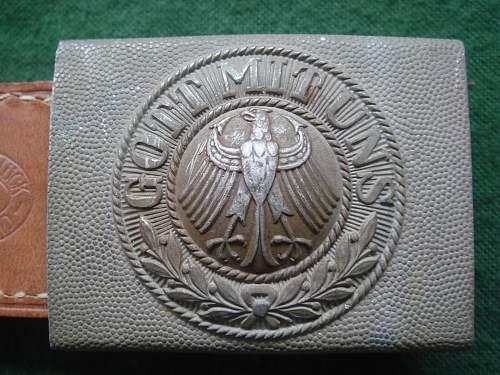 Very rare near mint one piece alu Steinhauer & Luck Reichsweh buckle