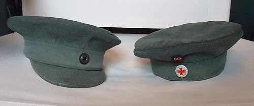 cap rescue : 1919 field cap....a re-build job really