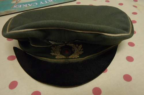 cap Rescue: Infantry Alter art with embroidered wreath