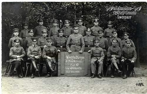Click image for larger version.  Name:1920 Sept.-Oktob.  1 Untfz. Korps 9. Komp. Grenadier Regt.10 Döberitz.jpg Views:322 Size:224.7 KB ID:665832