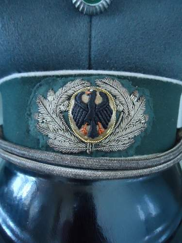Infantry Officer Service Cap (Saxon Regt 10 or 11) circa 1930