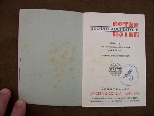 ASTRA Model 300 Manual