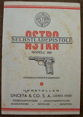 Spanish Astra Model 300 German Contract