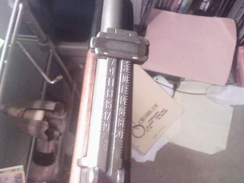 Why does the Mauser rear sight have #'s on the back?