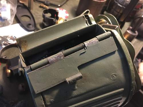 Odd MG34/42 assault drum markings