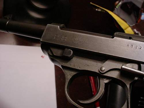 Very late Mauser p38,marked SVW45,bringback pistol.