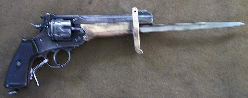 1915 Webley Mark VI w/Bayonet