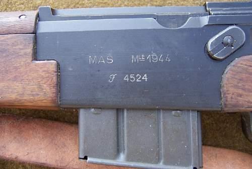 French MAS44 Simi-Auto Rifle