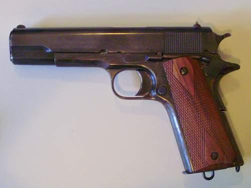 British-proofed Colt 1905 Auto