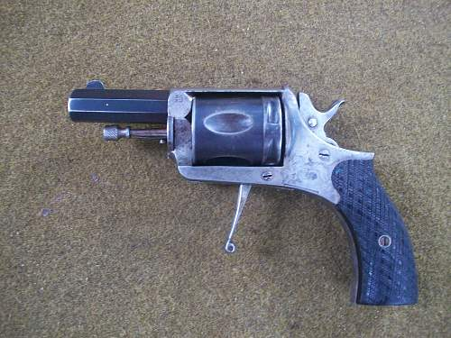 Belgian Folding Trigger Revolver