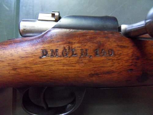 WW1-used Portugese Mauser-Vergueiro M1904