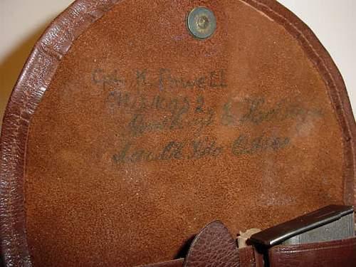 German WW1 Navy holster need help with markings